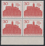 BRD 544 postfrisch Viererblock mit Bogenrand unten