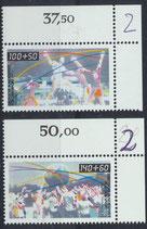 BRD 1449-1450 postfrisch mit Eckrand rechts oben