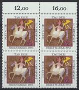 BRD 1192 postfrisch Viererblock mit Bogenrand oben