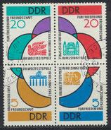 DDR 901-904 philat. Stempel  Viererblock (2)