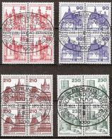 BERL 587-590 gestempelt Viererblocksatz