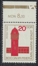DDR 1118 postfrisch mit Bogenrand oben