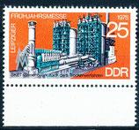 DDR 2024 postfrisch mit Bogenrand unten