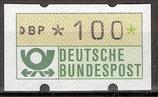 100 (Pf) Automatenmarke 1 postfrisch mit Zählnummer (BRD-ATM)