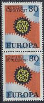 BRD 534 postfrisch senkrechtes Paar
