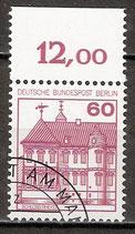 BERL 611 gestempelt Bogenrand oben (RWZ 12,00)