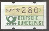 280 (Pf) Automatenmarke 1 postfrisch (BRD-ATM)