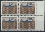 BRD 422 postfrisch Viererblock mit Bogenrand rechts