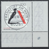 1866 gestempelt Eckrand rechts unten (BRD)