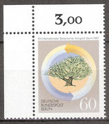 786 postfrisch; Eckrand links oben (RWZ 3,00) (BERL)