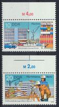 DDR 2424-2425 postfrisch mit Bogenrand oben