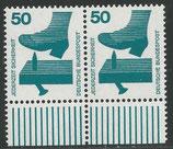 BRD 700  postfrisch waagrechtes Paar mit Bogenrand unten
