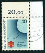 BRD 763 gestempelt mit Eckrand rechts oben (RWZ 20,00)