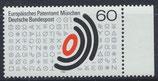 BRD 1088 postfrisch mit Bogenrand rechts