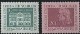 733-734 postfrisch (DDR)