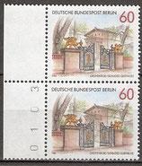 BERL 762 postfrisch senkrechtes Paar Bogenrand links mit Bogenzählnummer