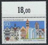 BRD 1271 postfrisch mit Bogenrand oben