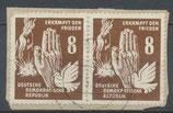 DDR 277 gestempelt waagrechtes Paar auf Briefstück