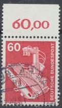 990 gestempelt mit Bogenrand oben (RWZ 60,00) (BRD)