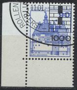 BERL 588 gestempelt mit Eckrand links unten