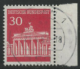 508   gestempelt  mit Bogenrand rechts (BRD)