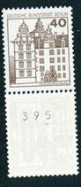 BERL 614 A R postfrisch, 3er Streifen mit rückseitger Nummer -395-