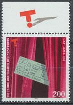 1857 postfrisch Bogenrand oben (BRD)