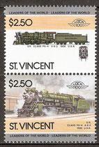 842-843 postfrisch (St. Vincent Eisenbahn)