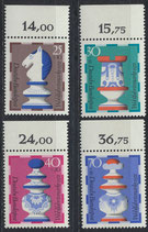 BRD 742-745 postfrisch mit Bogenrand oben
