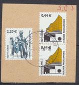 BRD 2307+2x2298 gestempelt auf Briefstück [3]
