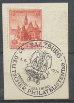 DR 667 gestempelt auf Briefstück