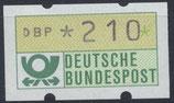 210 (Pf) Automatenmarke 1 postfrisch (BRD-ATM)