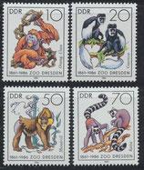 3019-3022  postfrisch (DDR)