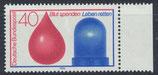 BRD 797 postfrisch mit Bogenrand rechts