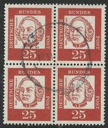 BRD 353 y   gestempelt Viererblock