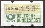 150 (Pf) Automatenmarke 1 postfrisch (BRD-ATM)