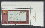DDR 2646 postfrisch mit Eckrand rechts oben