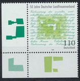 BRD 1988 postfrisch mit Eckrand links unten