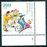 BRD 1730 postfrisch Eckrand rechts unten mit Formnummer 2