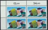 BRD 1187 postfrisch Viererblock mit Eckrand links oben