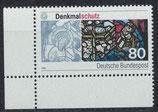 BRD 1291 postfrisch mit Eckrand links unten