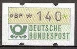 140 (Pf) Automatenmarke 1 postfrisch (BRD-ATM)