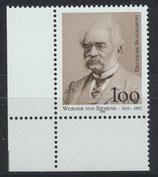 BRD 1642 postfrisch mit Eckrand links unten