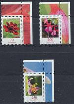 BRD 3189-3191  postfrisch mit Eckrand rechts oben