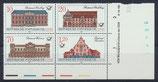 DDR 3067-3070 postfrisch Viererblock mit Eckrand rechts unten