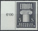 AT 1081 postfrisch mit Bogenrand links