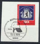 BERL 523  gestempelt mit Ersttagssonderstempel