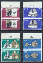 DDR 2061-2064 postfrisch senkrechte Paare mit Bogenrand oben