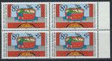 BRD 1179 postfrisch Viererblock mit Bogenrand rechts