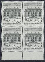 BERL 320 postfrisch Viererblock mit Bogenrand unten